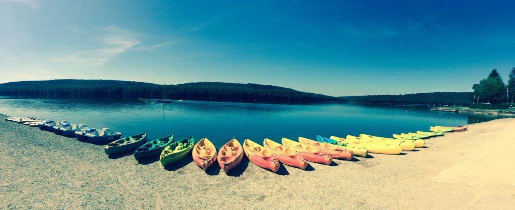 canoe kayak au lac des Vieilles Forges